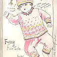 Fuzzy Fair Isle Sketch