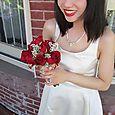 Sabrina Style Short Wedding Dress