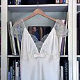 Silk Charmeuse and Chantilly Lace Wedding Dress