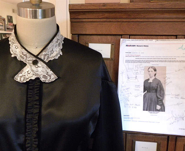 Civil War Era Blouse with Inspiration Photo