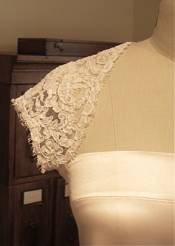 Lace Wedding Shrug, Detail