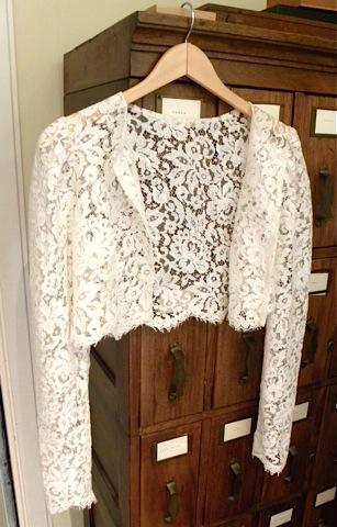Soft Alencon Lace Jacket