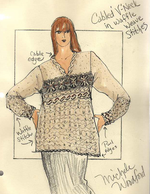 Textured Tunic Sketch For Plus Size