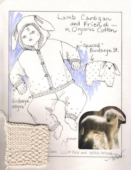 Organic Lamb Cardigan Sketch