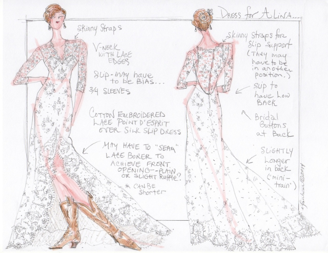 Alina's Lace Gown