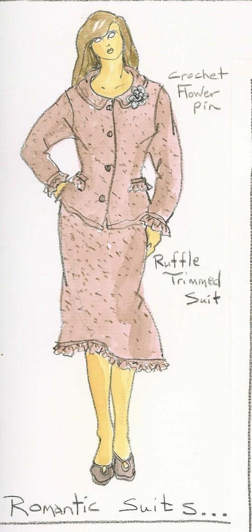 Romantic Suit Sketch