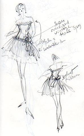 Original Dance Dress Sketch